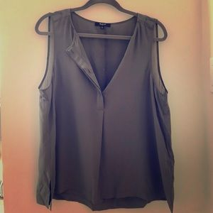 Madewell Gray Silk Blouse